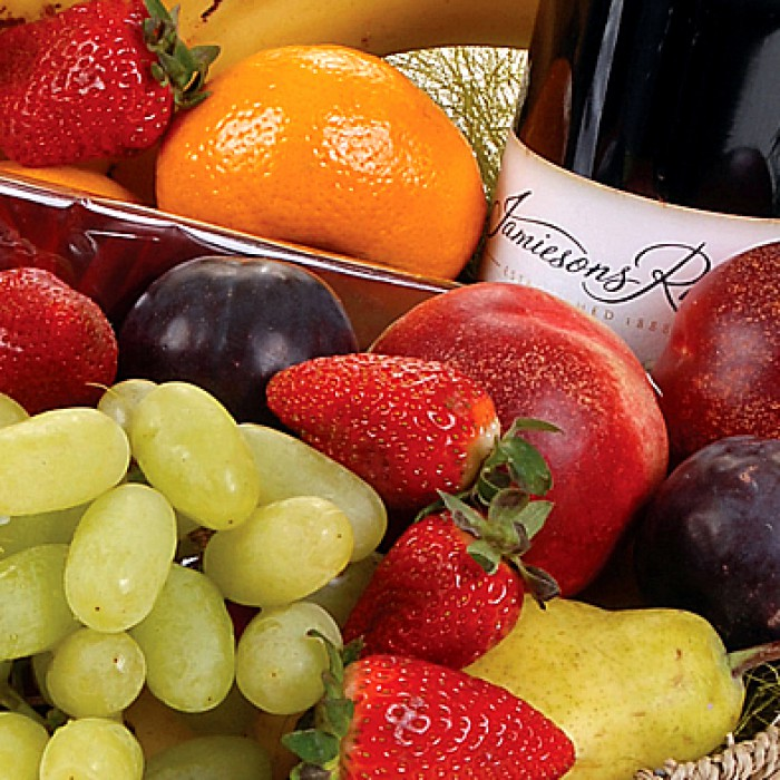 Yummy Surprise Fruit Basket Same Day Delivery Flowersales