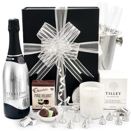 Sterling-Candle-and-Chocolate-Gift-Basket