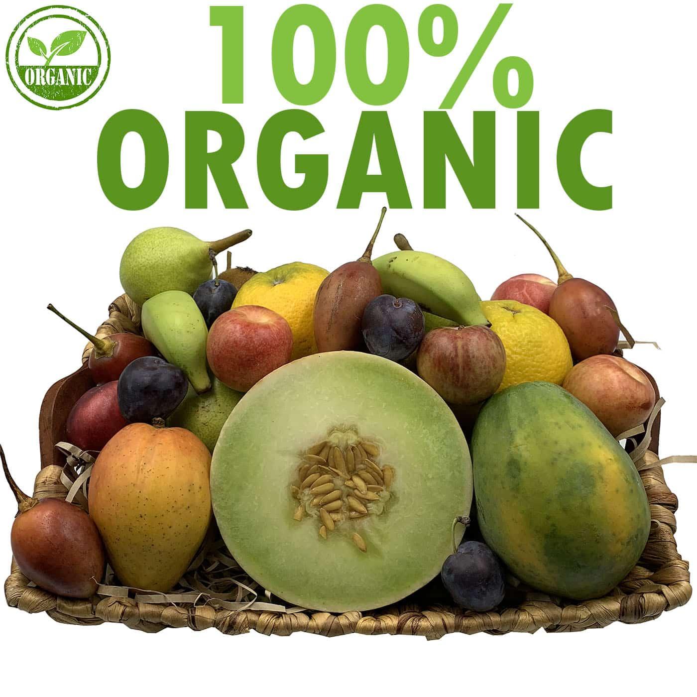 Organic Fruit Basket Gift Hamper Next Day Delivery