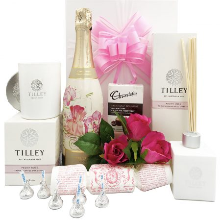 Tilleys Peony Rose and Bubbly Gift