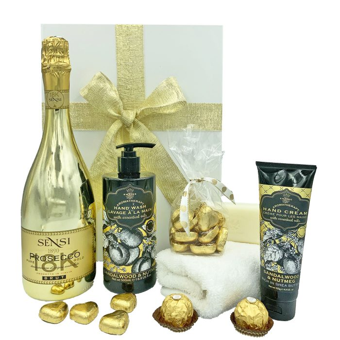 Gold Prosecco and Pamper Gift